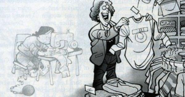 Sweatshop Cartoon What We Always Ignore Wirtschaft