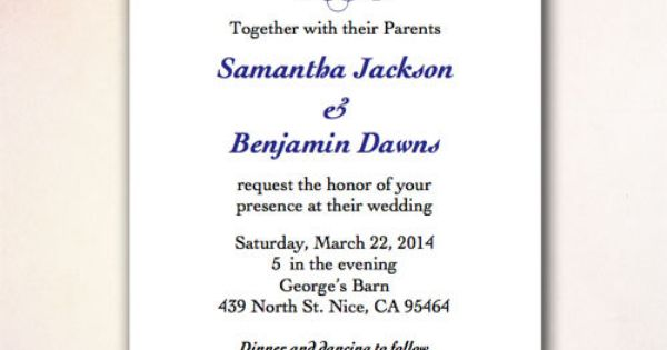 Diy Wedding Invitation Template Instant Download By