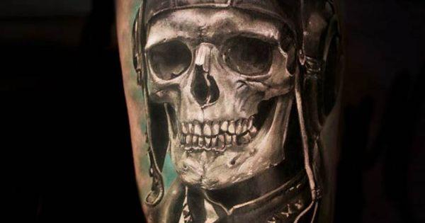 Skull Pilot Tattoo By Iwan Yug  Tattoos Pinterest