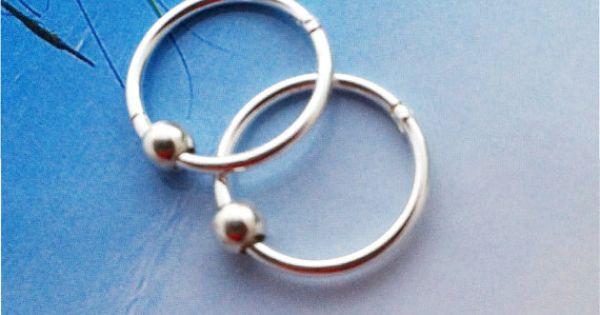 Solid Sterling Silver Hinged Hingee Hoop Earrings With