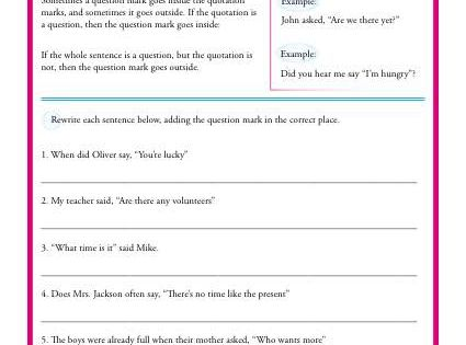 how to use quotation marks with a question mark