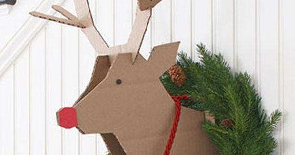 Shake My Blog | Une tête de renne en carton à votre