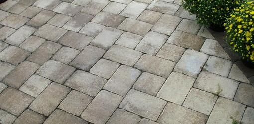 How To Install Pavers Over A Concrete Patio Without Mortar Today S Homeowner Paver Patio Concrete Patio Makeover Patio Tiles