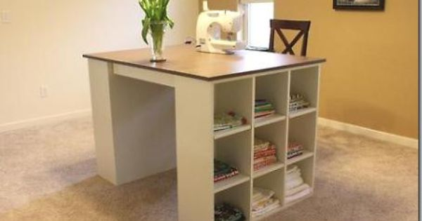 Made It On Monday Craft Room Dreams Plans Craft Tables With Storage Craft Table Diy Craft Room Desk