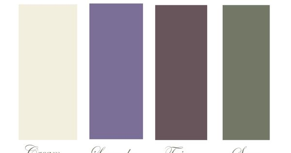 Colour Scheme Cream Lavender Twig Sage Bedrooms