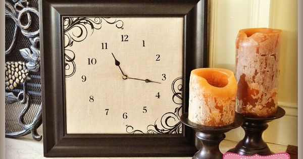 How to Make a Clock from an Old Picture Frame with the