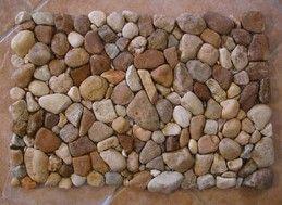 Howto Make A River Rock Doormat Diy River Rock River Rock Floor River Rock