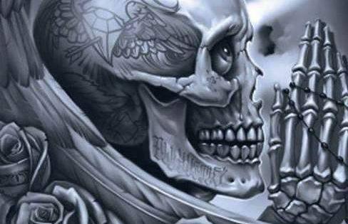 og abel praying skull eye love pinterest creative