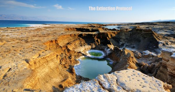 Massive Sinkholes Devouring What S Left Of Shriveling Dead Sea American History Photos Photo Scenery