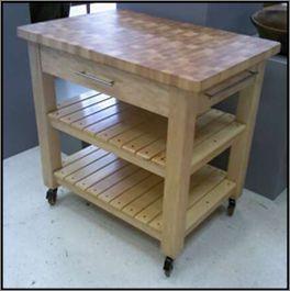 Butcher Block Kitchen Prep Station | Diy kitchen furniture ...