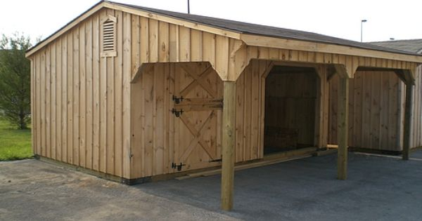 Shedrow Barns Shed With Overhang Farm Shed Barns Sheds Shed