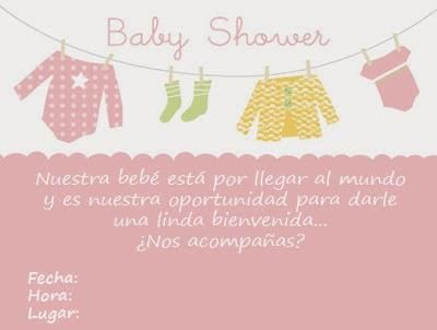Tarjetas De Invitación Para Baby Shower Niña Baby Shower