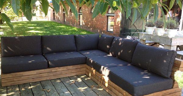 Teakhouten loungeset 2 zit hoek 2 zit hem meubel roden tuinmeubelen pinterest - Hoek sofa x ...