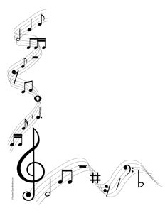Musical Notes Portrait Blank Clip Art Borders Free Clip Art Music Notes