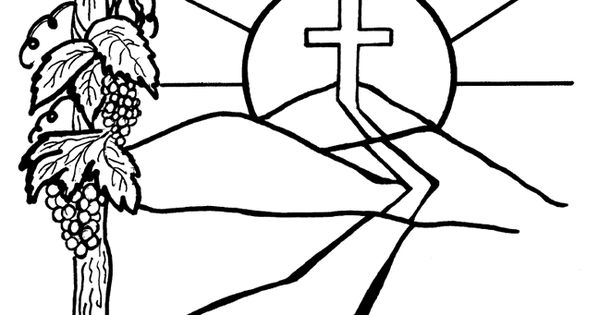 I Am The Vine You Are The Branches Coloring Page