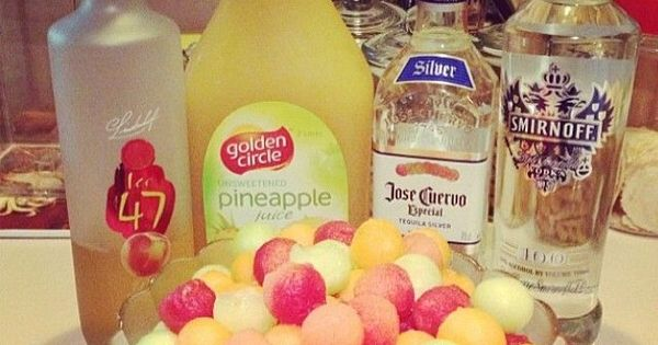 "Follow our Board ""DrinKs for a BuZz..."" >>> Drunken Melon Balls. Watermelon,"