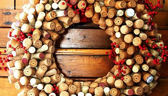 How to Make Cork Wreaths & Christmas Decor. Decorate your holiday home