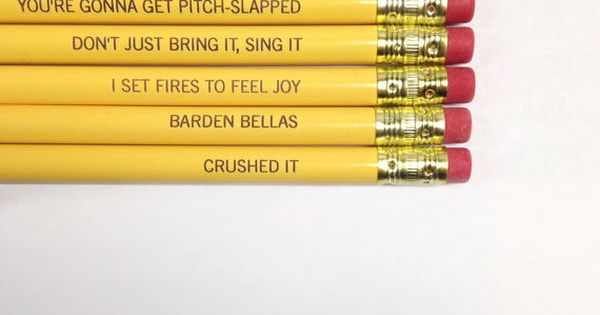 Pitch perfect pencil set 6 six pack pencils in sunshine yellow. Maria