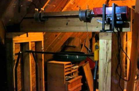 Home made garage attic lift hoist elevator dumb waiter for Garage attic lift elevator