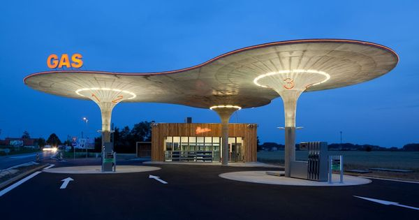 GAS - gas station chain. retro future