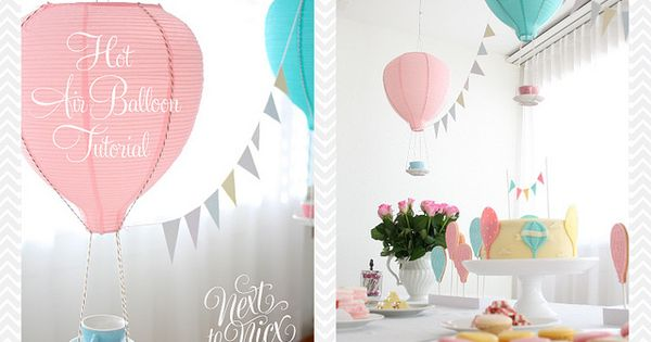 Hot Air Balloons made from Ikea paper lanterns & teacups. So cute!