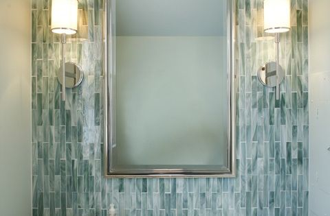 cute glass tile for a half bath