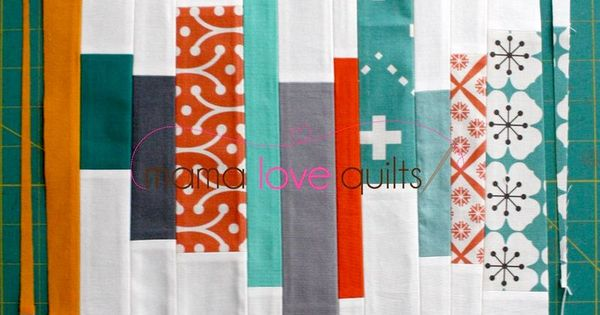 "Scrap Strip Quilt Block Tutorial for 12.5"" block- would be fun for"