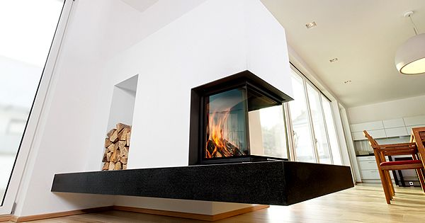 schwebender kamin von. Black Bedroom Furniture Sets. Home Design Ideas