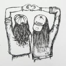 Me And My Best Friend Friends Sketch Drawings Of Friends Bff Drawings