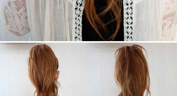 The Illusional Crazy Long Mane Ponytail and 23 Five-Minute Hairstyles For Busy