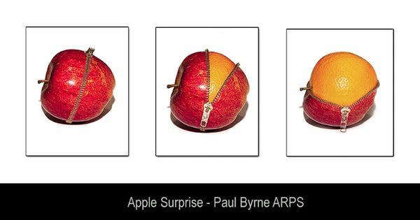 Apple Surprise - Paul Byrne ARPS #triptych #photography #apple # ...