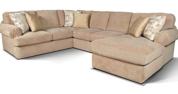 Abbie sectional sofa with right chaise by england living for Raphael contemporary sectional sofa