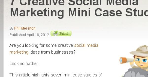 Mini case studies in marketing