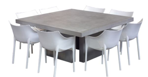 For An Eclectic Look Try Pairing Our Square Modern Concrete Table
