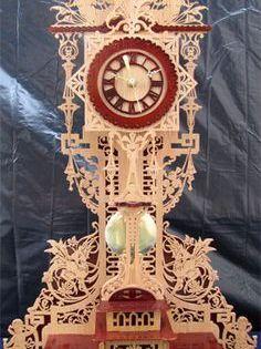 The Mantova Clock Scroll Saw Fretwork Pattern Desenler Kil Testere Desenleri Kilim