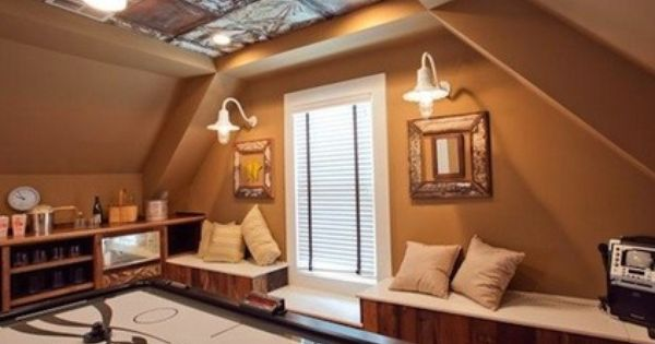 7 Tips To Put Your Attic In Play As A Game Room Tin Ceiling Attic Game Room Stamped Tin Ceiling