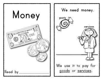 Money Emergent Reader For Kindergarten Social Studies Math Kindergarten Social Studies Social Studies Teaching Money