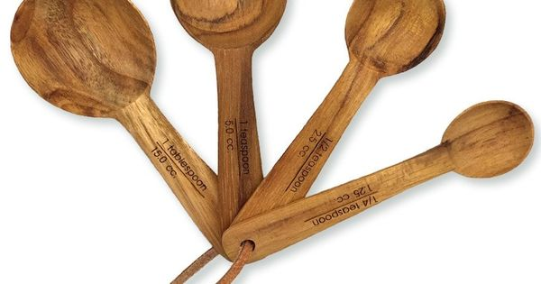 Teak Measuring Spoons Our Sustainable Teak Measuring Spoon Set Includes One Of Each 1 Table Spoon 1 Tea Spoon 1 2 Tea Spo Measuring Spoons Teak Wood Teak