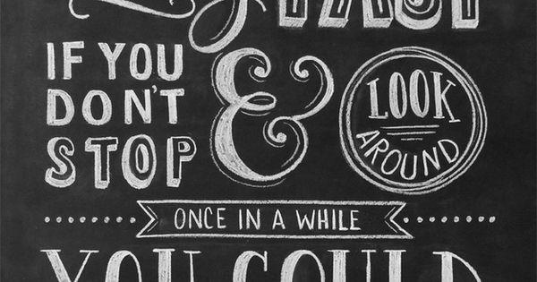 Ferris Bueller chalkboard quote