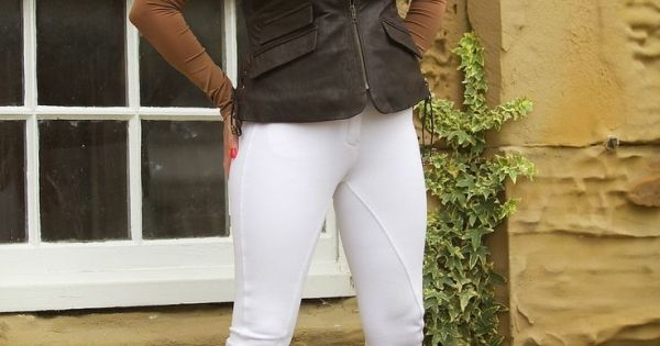 #Miss #Hybrid #in #white #jodhpurs #and #riding #boots ...