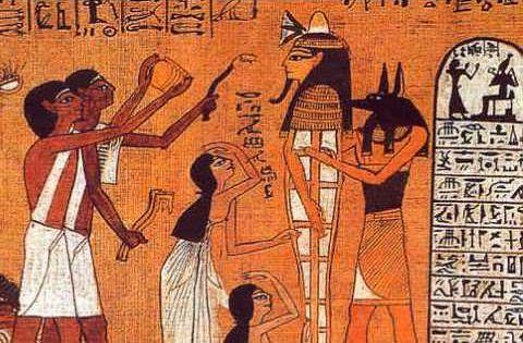 Rituales funerarios del antiguo egipto breve documental for Mural egipcio