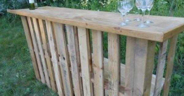 Bar exterieur comptoir bar fait en palettes objet et for Table exterieur en palette