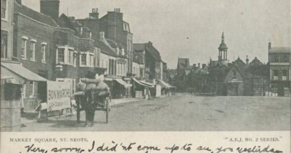 View Across St Neots Market Square Looking Towards The Corn
