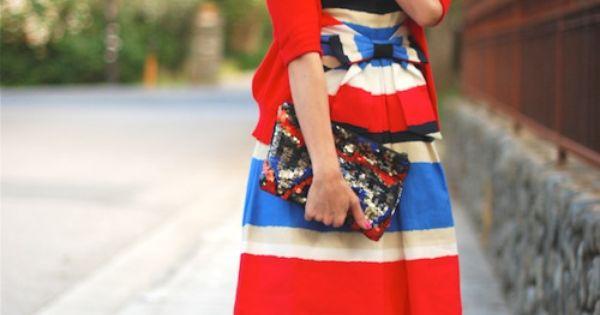 dresscolorfully ksny classics, bows + stripe