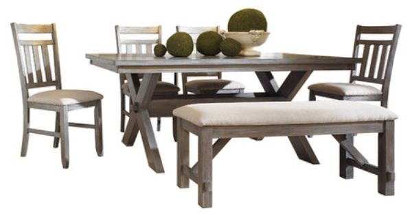 Found it at wayfair turino 6 piece dining set in grey for Wayfair comedores