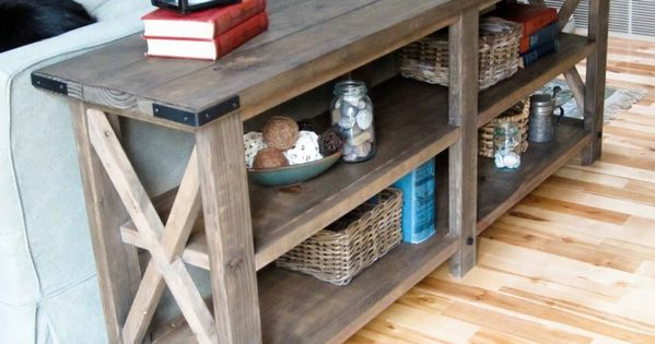 Step by step instructions how to make this rustic console table. LOVE!