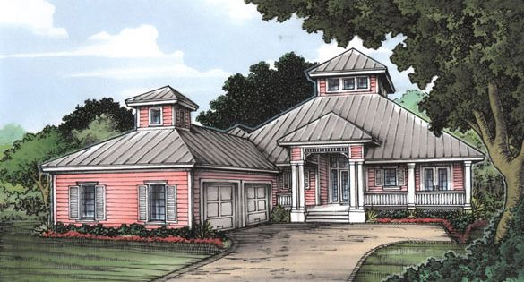 Florida cracker house plan chp 24544 at for Cracker house plans