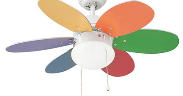 Ventilador De Techo Con Luz Sulion Rainbow 76 Cm Multicolor Ac Leroy Merlin Ventiladores De Techo Ventilador De Techo Con Luz Techo