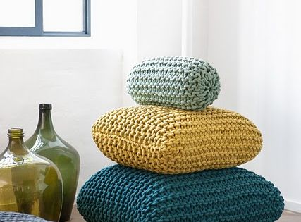 Knitting Trends Adding Warm Personality to Modern Interior Decorating Knit pillow