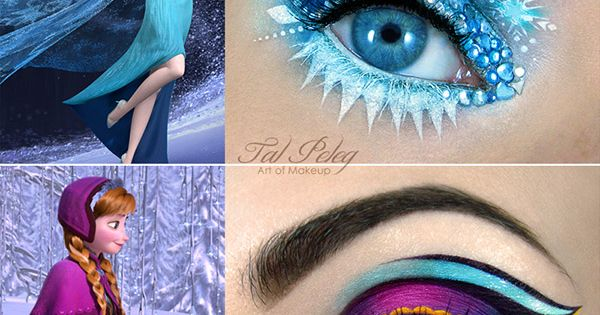 cartoon charecter makeup designs that are with eye shadow | Stunning Frozen